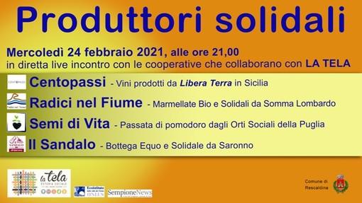 Mercoledì 24 febbraio, La Tela di Rescaldina presenta i suoi produttori solidali