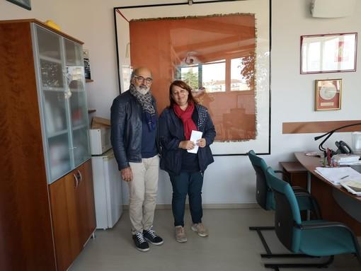 Il presidente di Aime Giuseppe Albertini con la segretaria generale della Cgil Varese Stefania Filetti