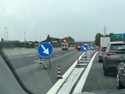 Manutenzione delle gallerie e asfaltature sulla A8: interessate la Diramazione di Gallarate e il tratto tra Sesto e Castelletto