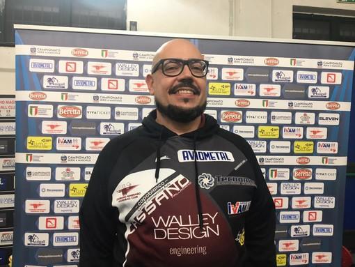 Cristiano Braggion, presidente della Pallamano Cassano, contento della prestazione contro Merano