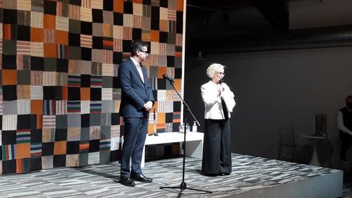 La direttrice del Maga, Emma Zanella, e il sindaco di Gallarate, Andrea Cassani