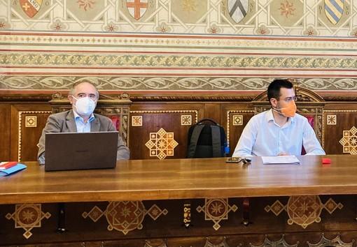 L'assessore Alberto Garbarino e il sindaco Lorenzo Radice
