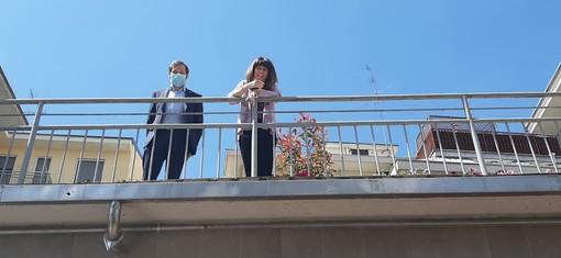 Emanuele Monti con Patrizia Corbo del Piccolo Principe