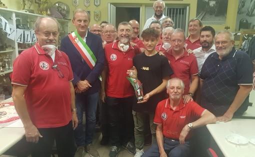 La festa al Moto Club Bustese per Leonardo Abruzzo. Presente anche il sindaco Emanuele Antonelli