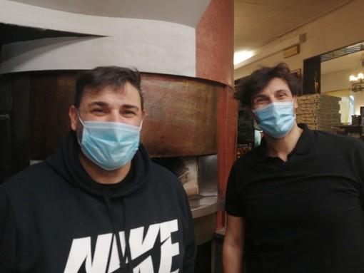 """Angelo e Massimo Rossi della pizzeria """"Da Mimmo"""" a Sacconago"""