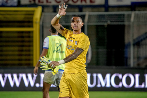 Elia Caprile, gran protagonista del match vinto dai tigrotti contro la Juve U23