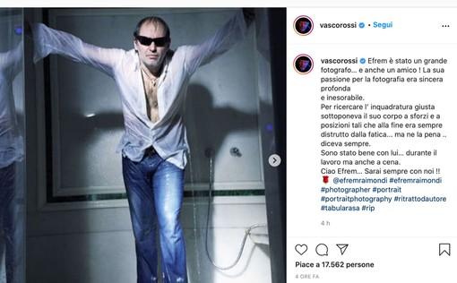 Il messaggio di Vasco Rossi in ricordo di Efrem Raimondi