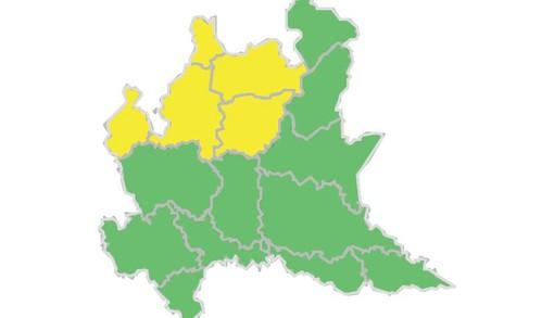 Maltempo, nuova allerta gialla per la zona di laghi e Prealpi varesine a partire da domattina