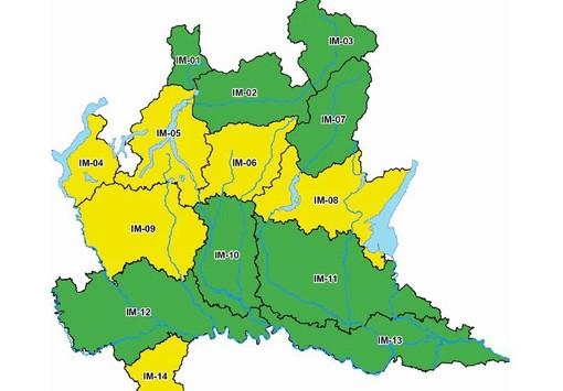 Allerta gialla della protezione civile per rischio idrogeologico su laghi, Prealpi e in tutto il Varesotto