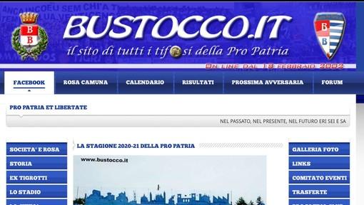 Il sito del bustocco.it luogo di incontro tra i tifosi e storia compie 19 anni