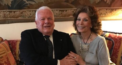 Luciano Cimmino e Sophia Loren