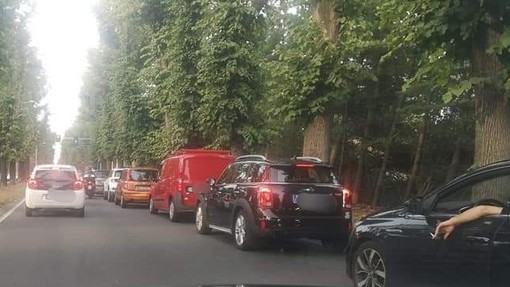 Lunghe code dopo l'attivazione del nuovo semaforo a Borsano