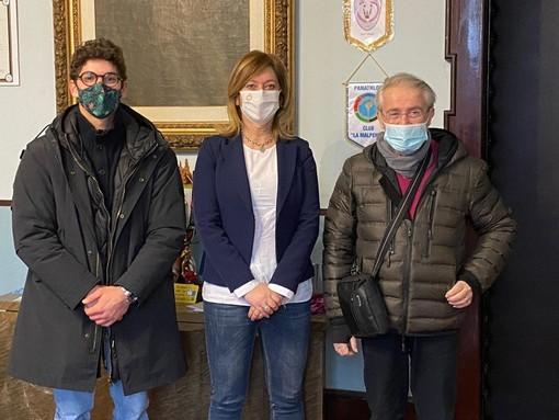 Da sinistra Ludovico Edalli, Laura Rogora e Rosario Vadalà