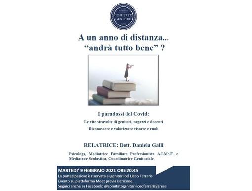 Il comitato genitori del Liceo Ferraris di Varese riparte con le serate formative dedicate ai genitori