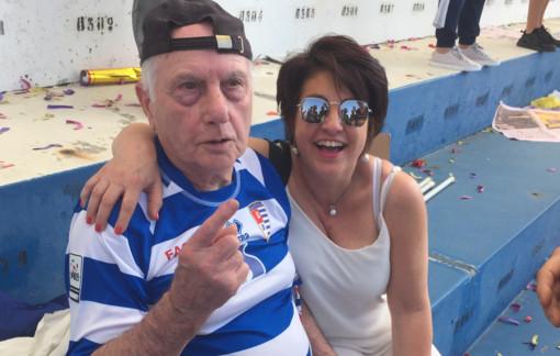 Giannino Gallazzi e la figlia Roberta allo Speroni