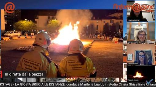 Le fiamme (qui a Busto Arsizio) hanno raccontato la voglia di tradizione e di battere il virus