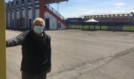 Giuseppe Calderaro, mitico custode dello stadio Speroni a Busto