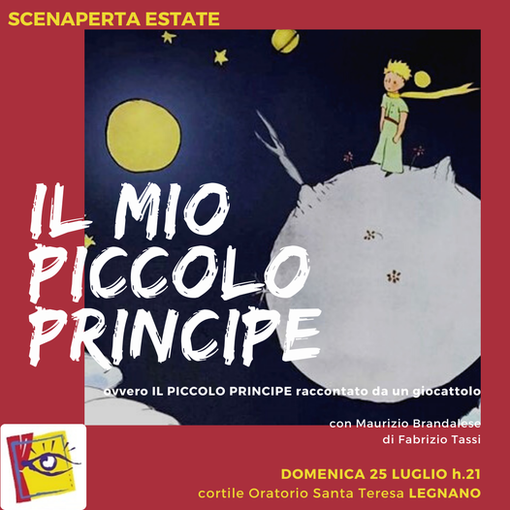 Spettacolo per grandi e bambini, il 25 luglio, all'oratorio Santa Teresa di Legnano (immagine dalla pagina fb di ScenAperta)