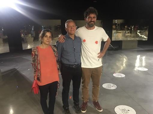 Da destra Daniele Sigalot, Luciano Bolzoni e Chiara Alberghina