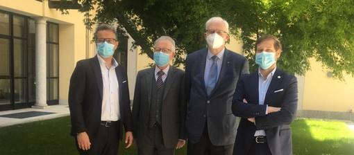 Il presidente della Commissione regionale sanità Emanuele Monti in visita venerdì alla Provvidenza di Busto
