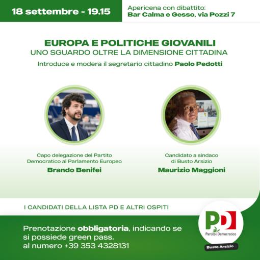 L'europarlamentare Brando Benifei a Busto per sostenere Maggioni