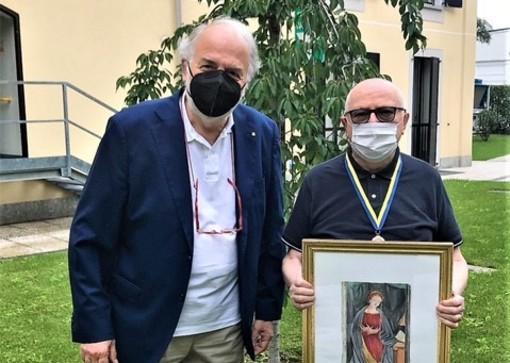 Mariano da Ronch con monsignor Livetti