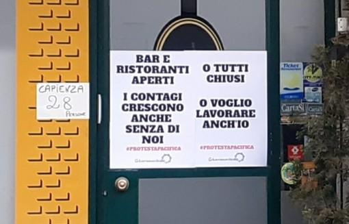 La protesta dei ristoratori a Busto