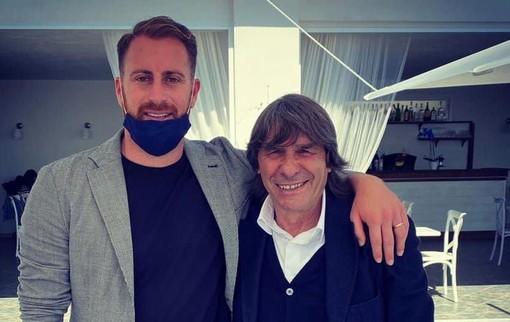 Bruno Conti ha fatto visita alla nuova attività dell'ex tigrotto Dario Polverini