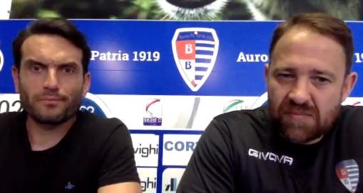 Riccardo Colombo e Ivan Javorcic in sala stampa