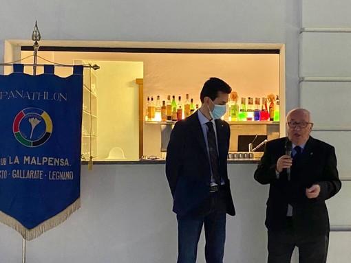 L'ultimo evento del Panathlon club La Malpensa, il primo della ripresa (nella foto Castiglioni con Tavecchio)