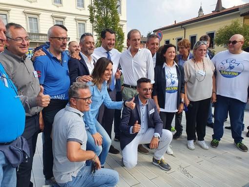 Salvini: «Obiettivo rivincere al primo turno. La Lega ha lavorato bene a Busto». IL VIDEO