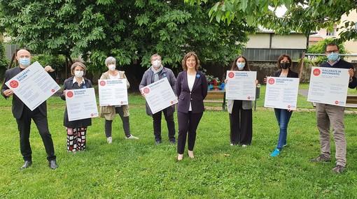 Margherita Silvestrini inizia il tour nei quartieri di Gallarate, in vista delle elezioni amministrative