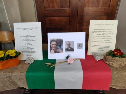 Allestimento al Tempio Civico per le vittime dell'attentato in Congo. «Ricordiamoli nella preghiera»