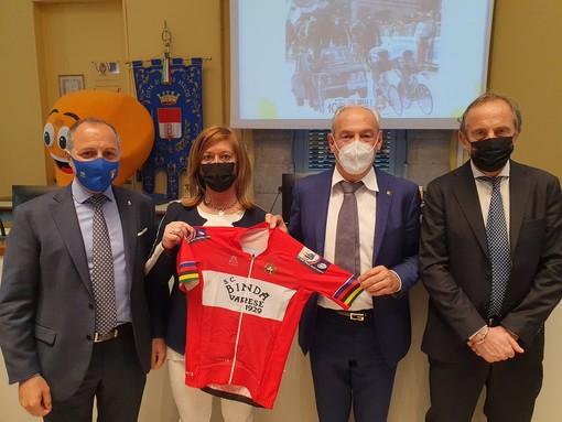 Da sinistra: Cordiano Dagnoni, Laura Rogora, Renzo Oldani ed Emanuele Antonelli