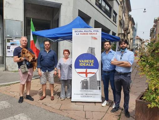 Varese Ideale in piazza per scrivere con i cittadini il programma elettorale