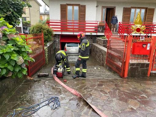 Maltempo, decine di richieste di intervento ai vigili del fuoco